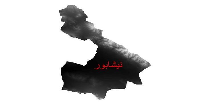دانلود نقشه دم رقومی ارتفاعی شهرستان نیشابور