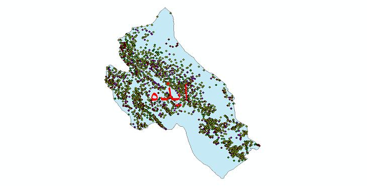 دانلود نقشه شیپ فایل آمار جمعیت نقاط شهری و نقاط روستایی شهرستان ایذه از سال 1335 تا 1395