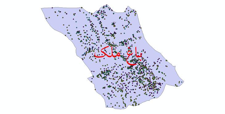 دانلود نقشه شیپ فایل آمار جمعیت نقاط شهری و نقاط روستایی شهرستان باغ ملک از سال 1335 تا 1395