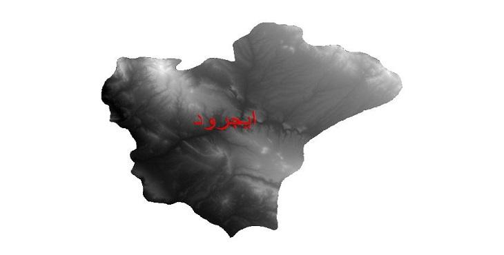 دانلود نقشه دم رقومی ارتفاعی شهرستان ایجرود