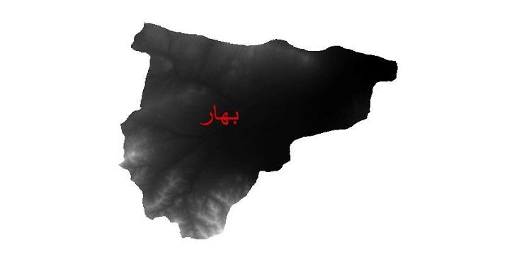 دانلود نقشه دم رقومی ارتفاعی شهرستان بهار