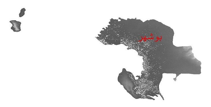 دانلود نقشه دم رقومی ارتفاعی شهرستان بوشهر