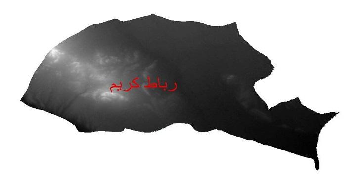 دانلود نقشه دم رقومی ارتفاعی شهرستان رباط کریم