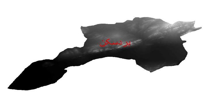 دانلود نقشه دم رقومی ارتفاعی شهرستان بردسکن