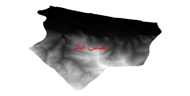 دانلود نقشه دم رقومی ارتفاعی شهرستان عباس آباد
