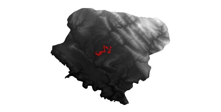 دانلود نقشه دم رقومی ارتفاعی شهرستان لالی