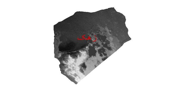 دانلود نقشه دم رقومی ارتفاعی شهرستان زهک
