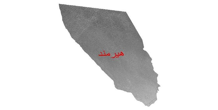 دانلود نقشه دم رقومی ارتفاعی شهرستان هیرمند
