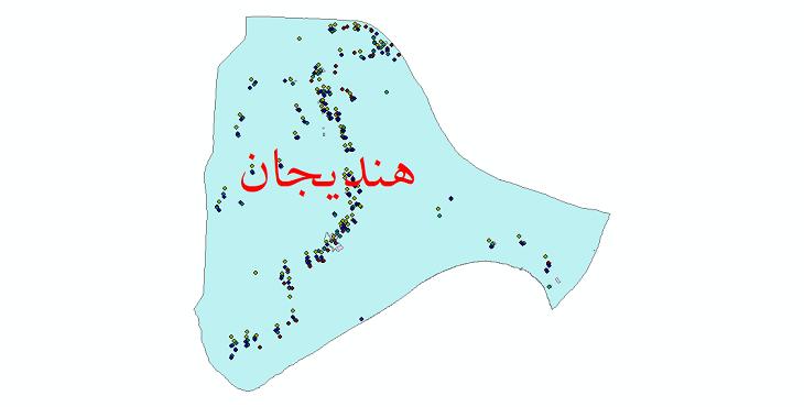 دانلود نقشه شیپ فایل آمار جمعیت نقاط شهری و نقاط روستایی شهرستان هندیجان از سال 1335 تا 1395