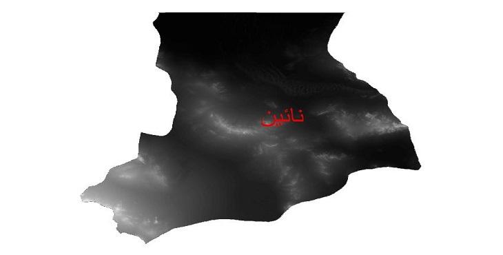 دانلود نقشه دم رقومی ارتفاعی شهرستان نائین