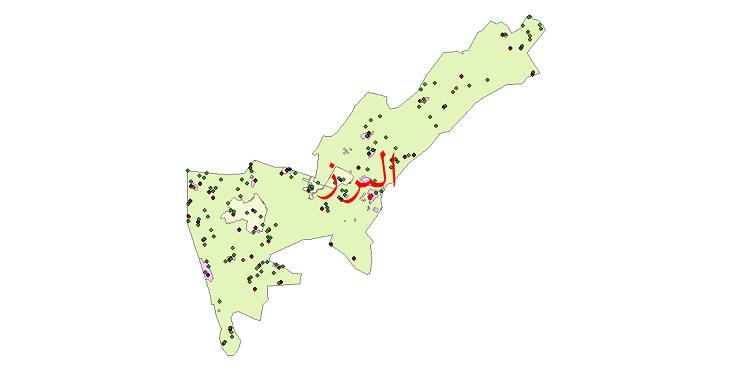 دانلود نقشه شیپ فایل آمار جمعیت نقاط شهری و نقاط روستایی شهرستان البرز از سال 1335 تا 1395