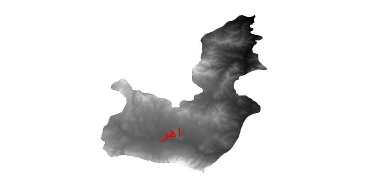 دانلود نقشه دم رقومی ارتفاعی شهرستان اهر
