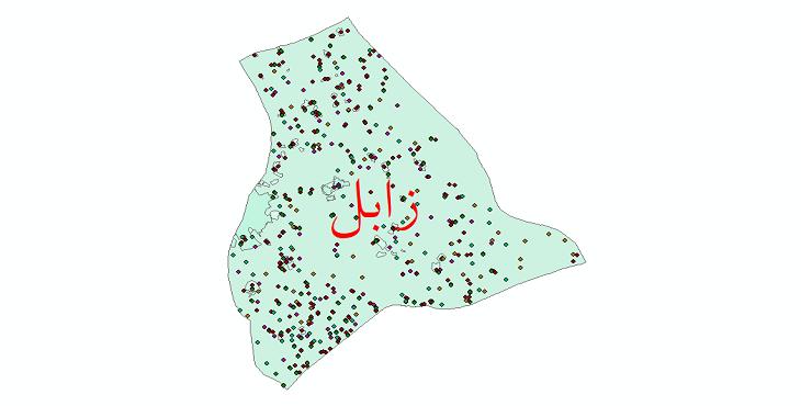 دانلود نقشه شیپ فایل آمار جمعیت نقاط شهری و نقاط روستایی شهرستان زابل از سال 1335 تا 1395