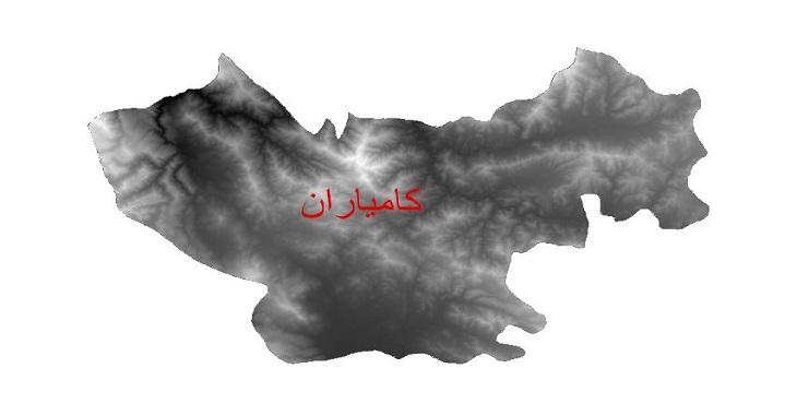 دانلود نقشه دم رقومی ارتفاعی شهرستان کامیاران