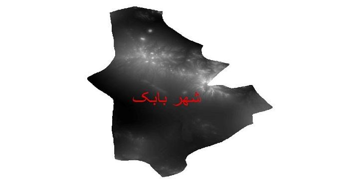 دانلود نقشه دم رقومی ارتفاعی شهرستان شهربابک