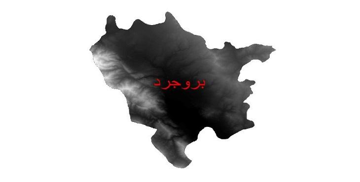 دانلود نقشه دم رقومی ارتفاعی شهرستان بروجرد