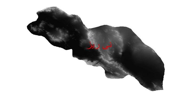 دانلود نقشه دم رقومی ارتفاعی شهرستان نی ریز