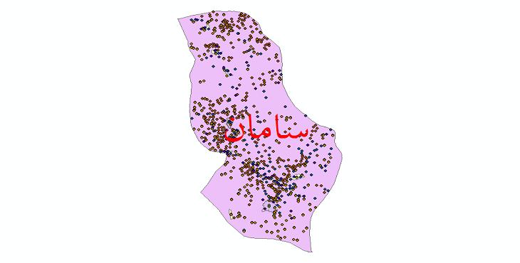 دانلود نقشه شیپ فایل آمار جمعیت نقاط شهری و نقاط روستایی شهرستان سامان از سال 1335 تا 1395