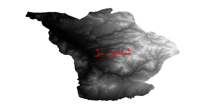 دانلود نقشه دم رقومی ارتفاعی شهرستان شاهین دژ