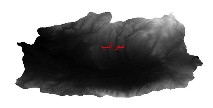 دانلود نقشه دم رقومی ارتفاعی شهرستان سراب