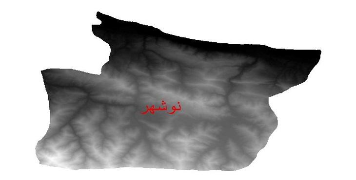 دانلود نقشه دم رقومی ارتفاعی شهرستان نوشهر