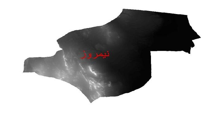 دانلود نقشه دم رقومی ارتفاعی شهرستان نیمروز