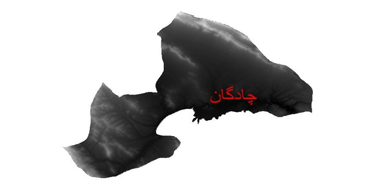 دانلود نقشه دم رقومی ارتفاعی شهرستان چادگان
