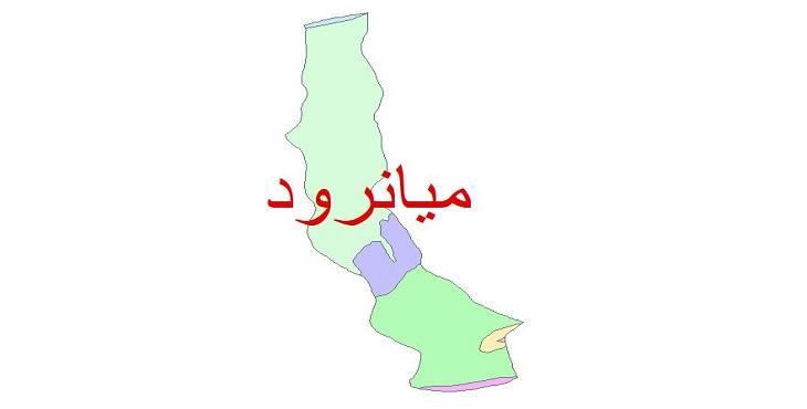 دانلود نقشه شیپ فایل زمین شناسی شهرستان میاندورود