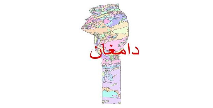 دانلود نقشه شیپ فایل زمین شناسی شهرستان دامغان