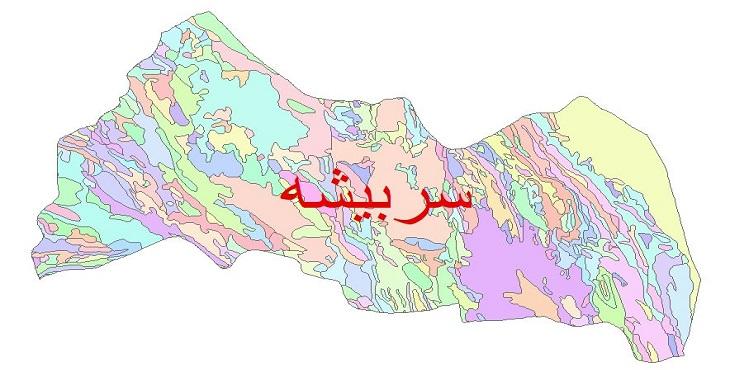 دانلود نقشه شیپ فایل زمین شناسی شهرستان سربیشه