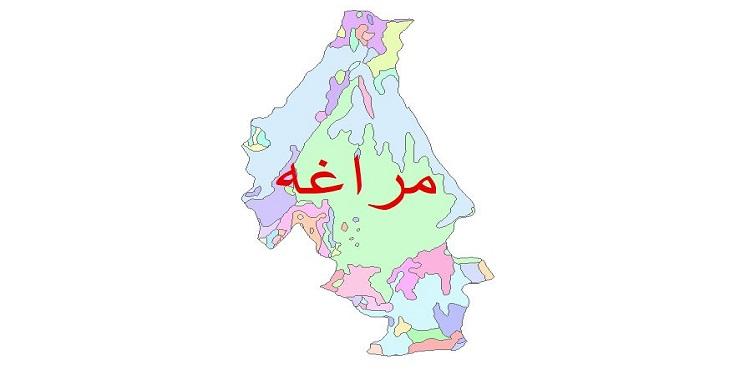 دانلود نقشه شیپ فایل زمین شناسی شهرستان مراغه