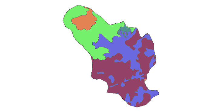 شیپ فایل کاربری اراضی شهرستان خمینی شهر