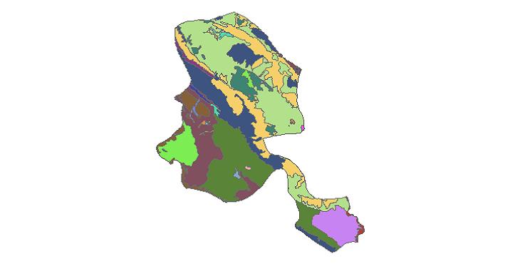 شیپ فایل کاربری اراضی شهرستان بهمئی