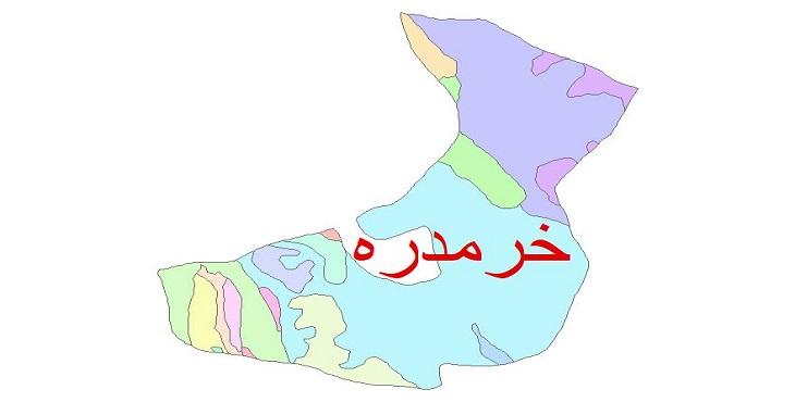 دانلود نقشه شیپ فایل زمین شناسی شهرستان خرمدره