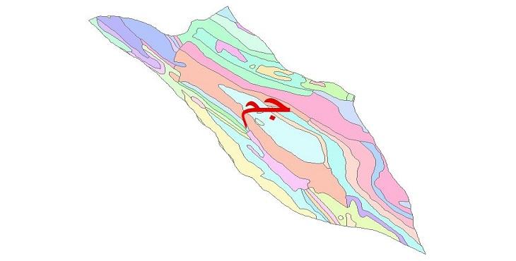 دانلود نقشه شیپ فایل زمین شناسی شهرستان جم