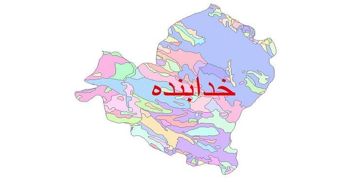دانلود نقشه شیپ فایل زمین شناسی شهرستان خدابنده