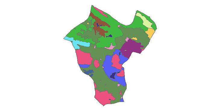 شیپ فایل کاربری اراضی شهرستان فردین