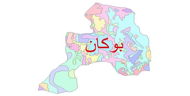 دانلود نقشه شیپ فایل زمین شناسی شهرستان بوکان