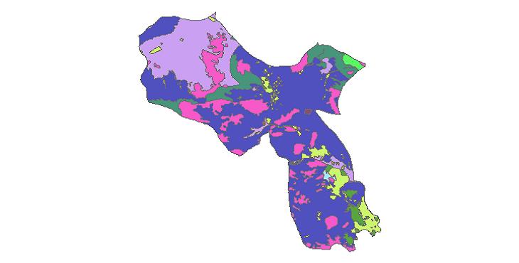 شیپ فایل کاربری اراضی شهرستان شاهین شهر و میمه