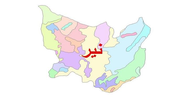 دانلود نقشه شیپ فایل زمین شناسی شهرستان نیر