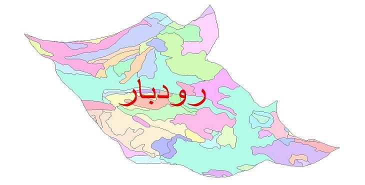 دانلود نقشه شیپ فایل زمین شناسی شهرستان رودبار