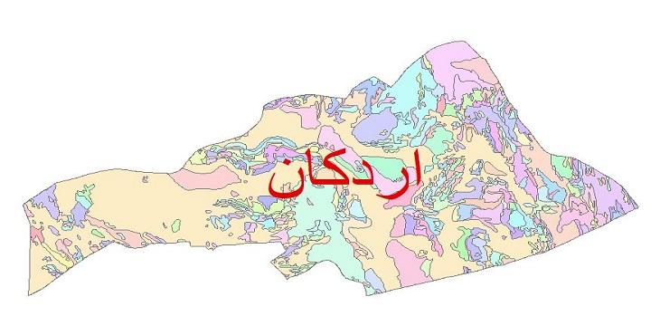 دانلود نقشه شیپ فایل زمین شناسی شهرستان اردکان