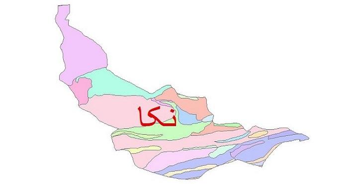 دانلود نقشه شیپ فایل زمین شناسی شهرستان نکا