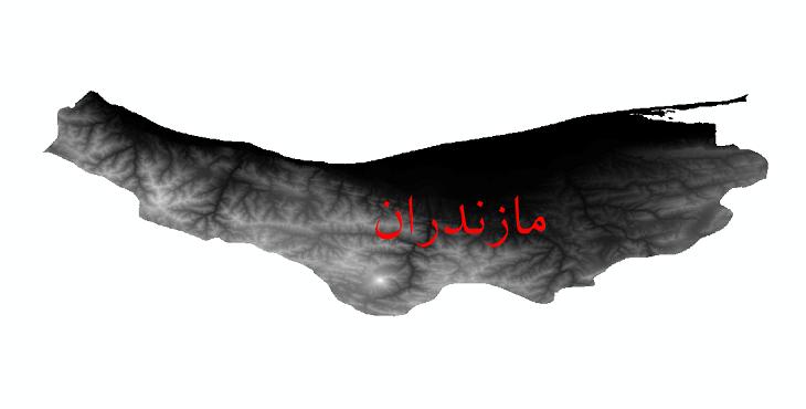 دانلود نقشه دم رقومی ارتفاعی استان مازندران