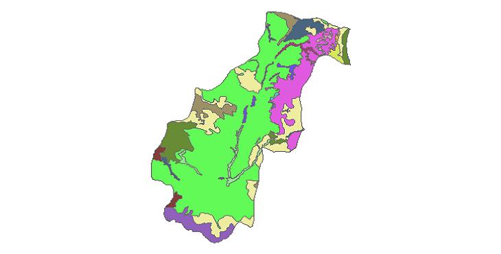 شیپ فایل کاربری اراضی شهرستان کوثر