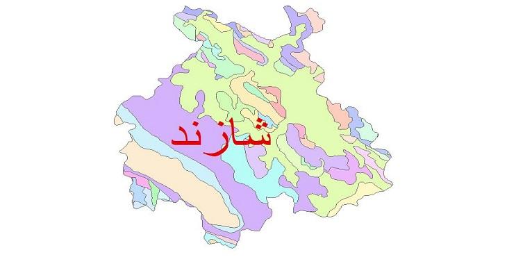 دانلود نقشه شیپ فایل زمین شناسی شهرستان شازند