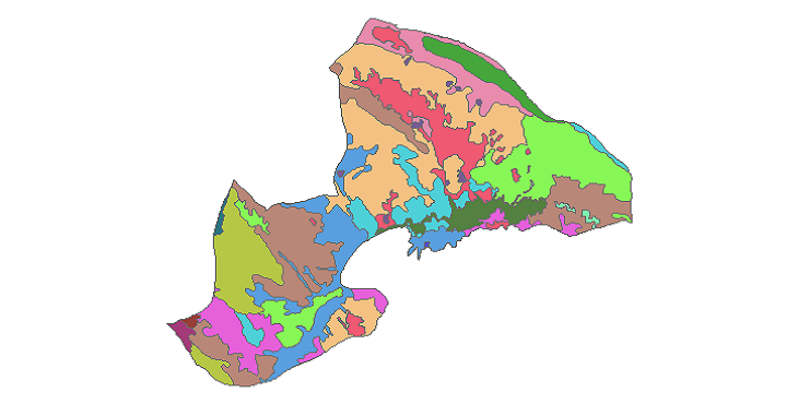 شیپ فایل کاربری اراضی شهرستان چادگان