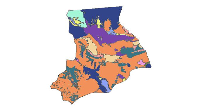 شیپ فایل کاربری اراضی شهرستان نائین