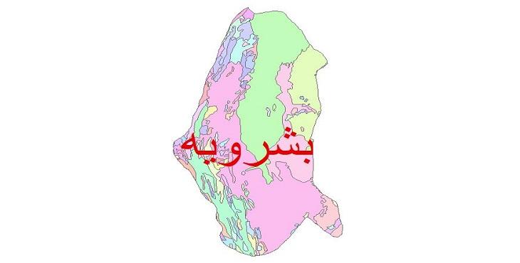 دانلود نقشه شیپ فایل زمین شناسی شهرستان بشرویه