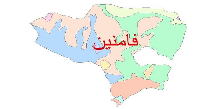دانلود نقشه شیپ فایل زمین شناسی شهرستان فامنین